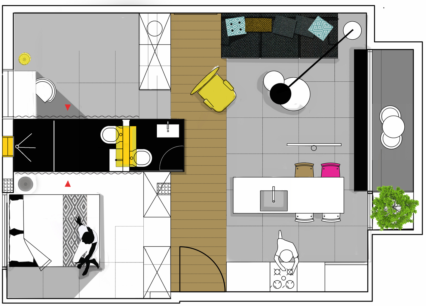Apartment-in-Tel-Aviv-Small-Apartment-Maayan-Zusman-Interior-Design-Tel-Aviv-Floor-Plan-Humble-Homes