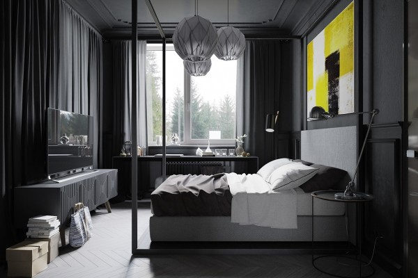 dark-gray-bedroom-design-600x400
